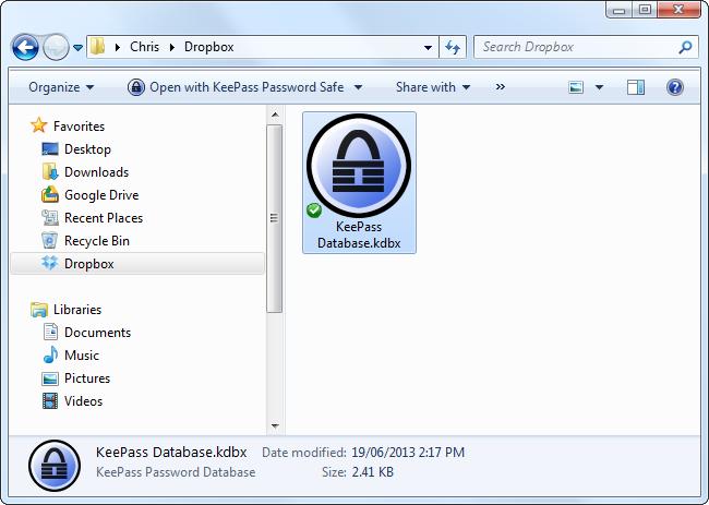与Dropbox同步keepass数据库